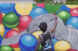 BlueTheGreat Mural POW WOW Long Beach 2017