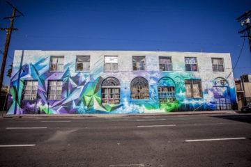 Mikael B Vivid Rhythms Mural in Los Angeles